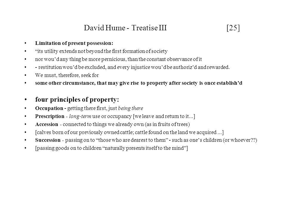 David Hume - Treatise III [25]
